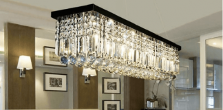 A Chandelier in the living room